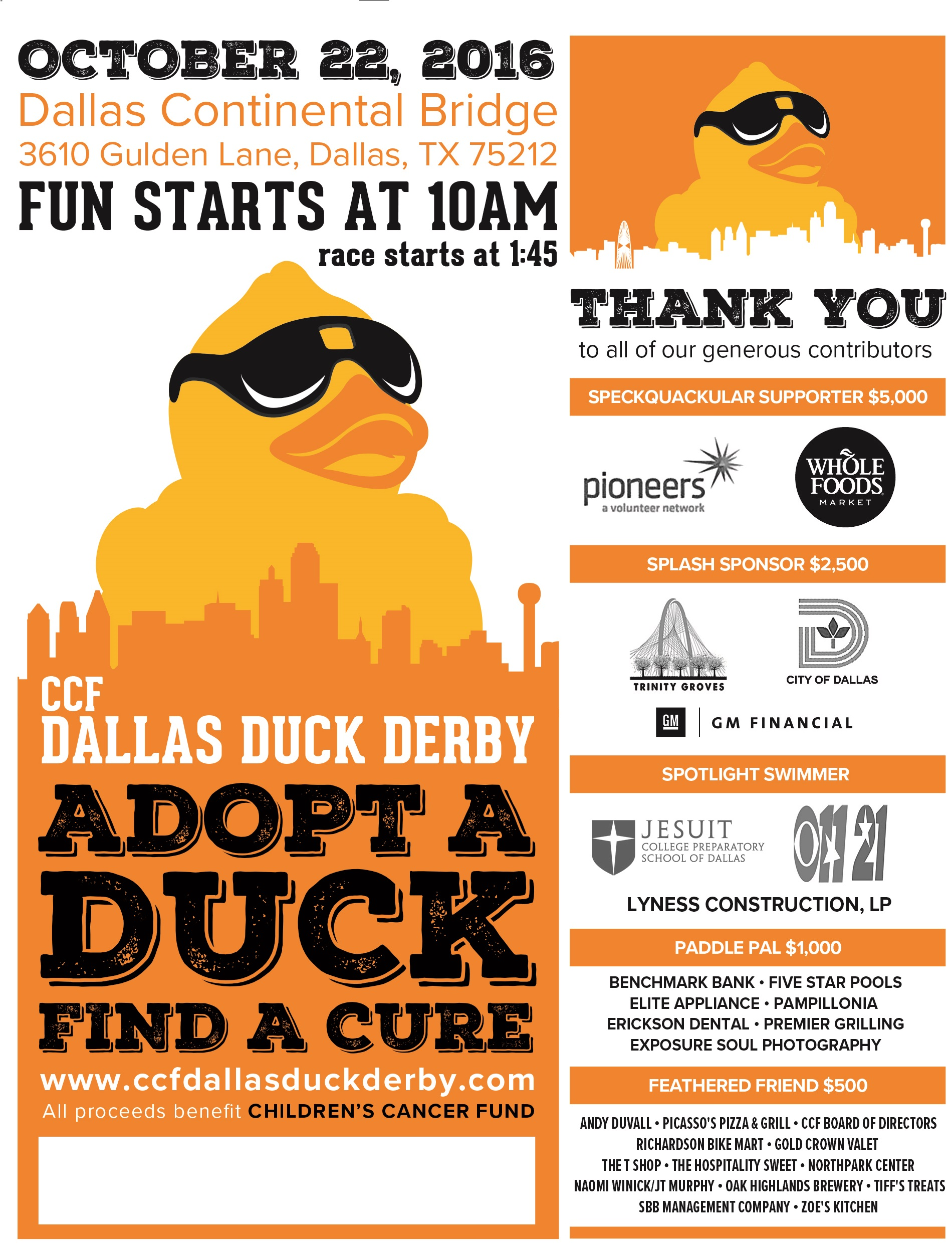 Duck-Derby-Flyer-for-city-of-dallas